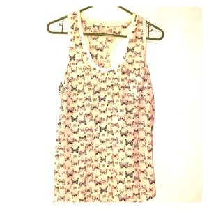 Joie silk tank top with butterflies